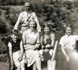 Mel Claire gezin 1945