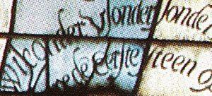 Gouds Glas nr. 28 …. wie onder u sonder sonde is werpe de eerste steen